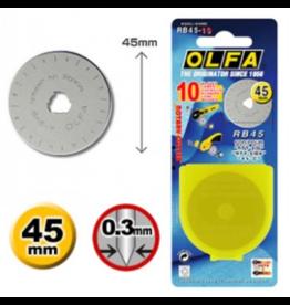 Olfa Olfa reservemes 45 mm - 10 stuks
