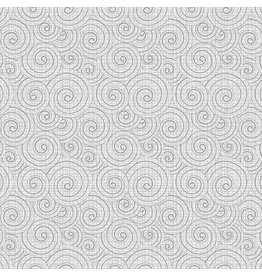 Contempo Words to Quilt By - Swirl Light Grey