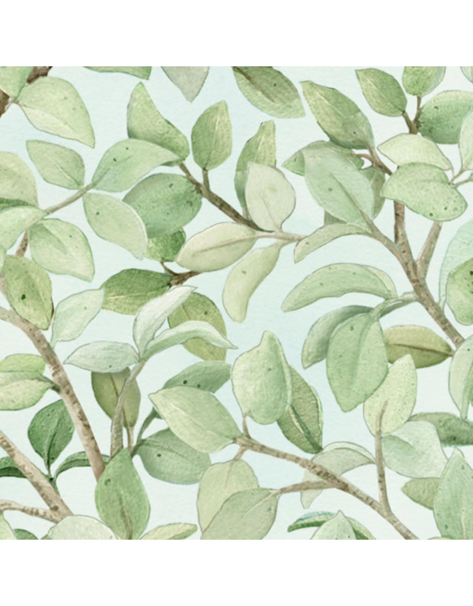 Elizabeth's Studio Beautiful Birds - Leaves Azure