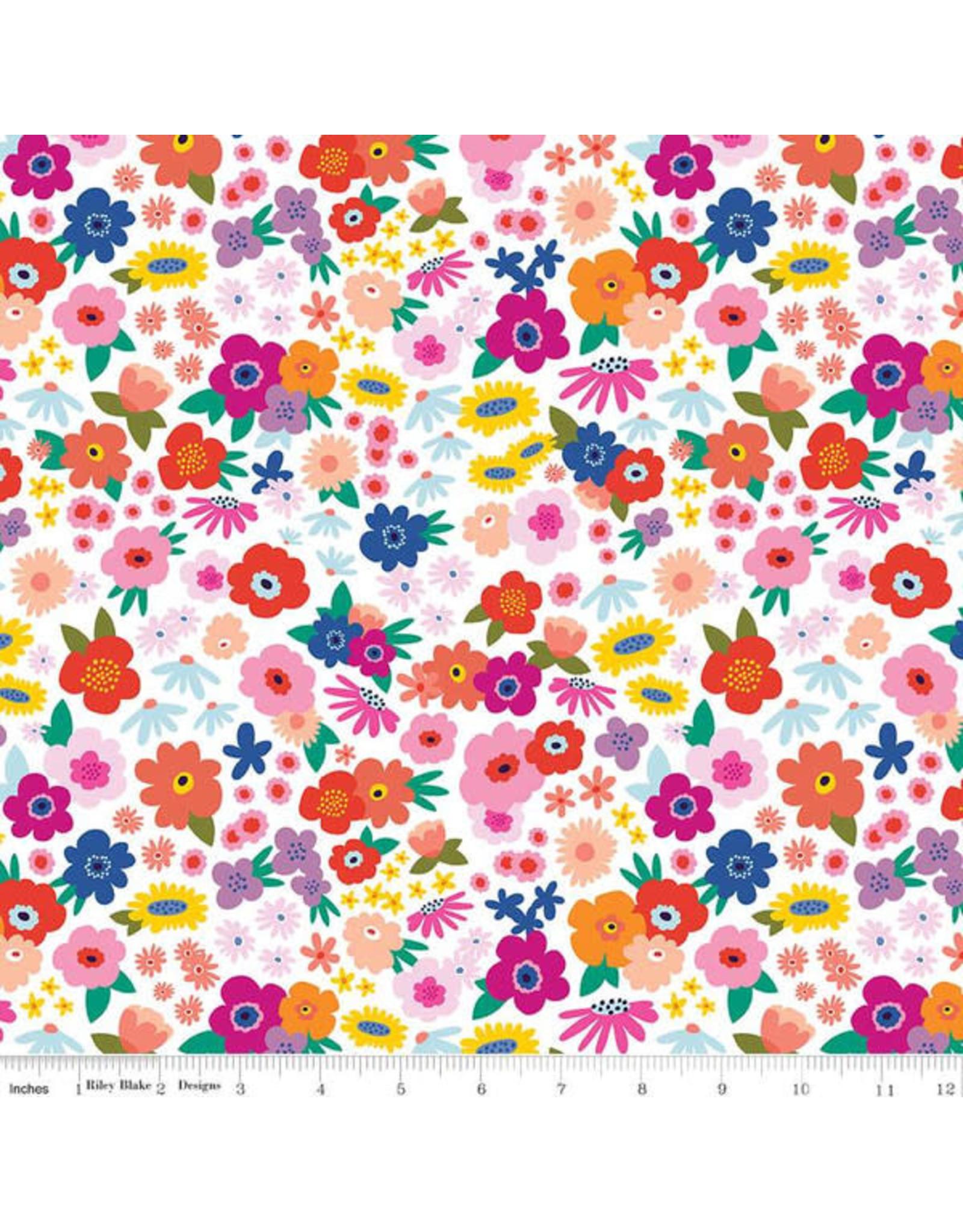 Riley Blake Designs GRL PWR - Bloom Babe White