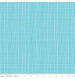 Riley Blake Designs GRL PWR - Grid Aqua
