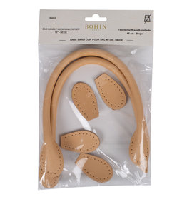 Bohin Bag Handle - Leather Look - 40cm - 23 Beige