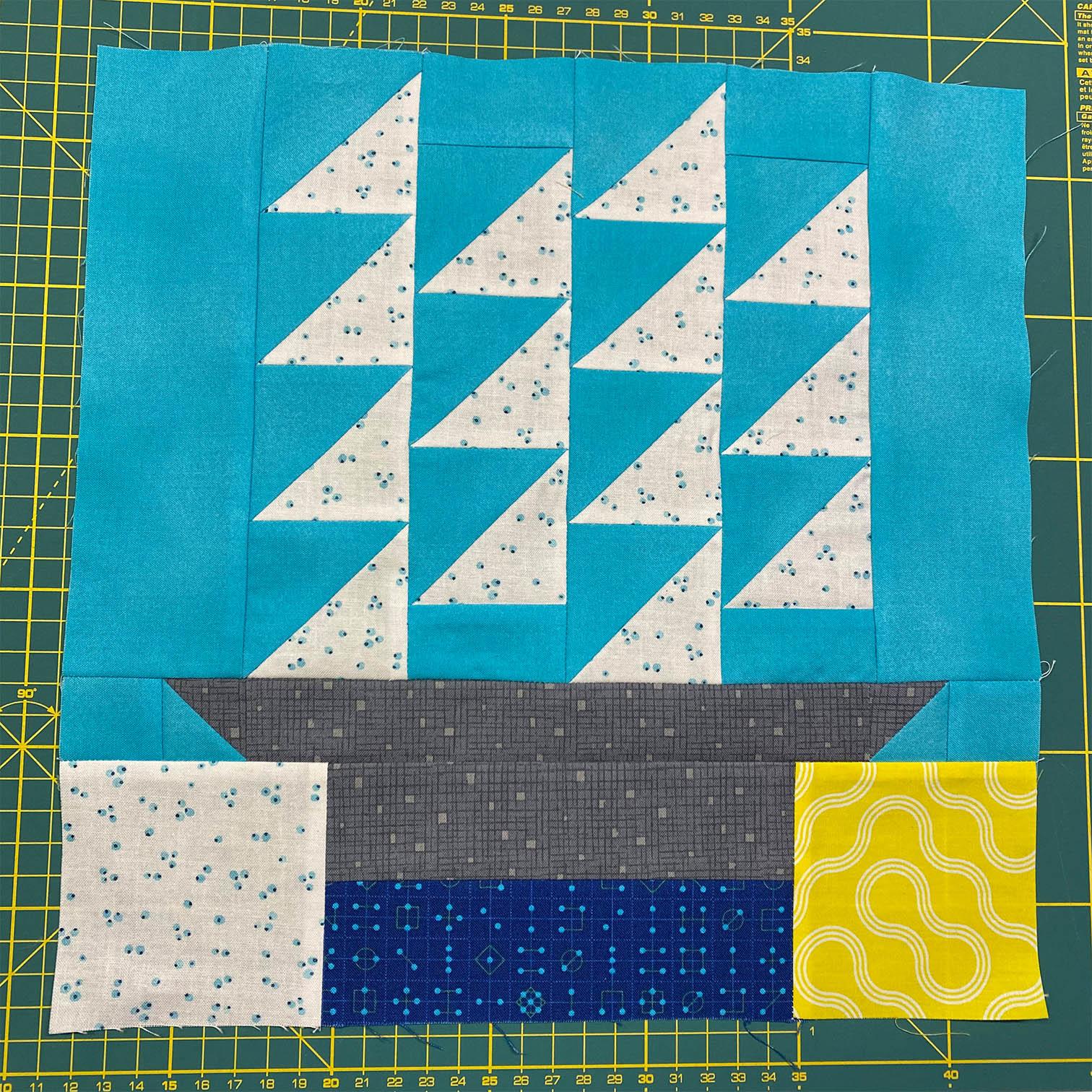 Half Square Triangles met de Bloc Loc liniaal