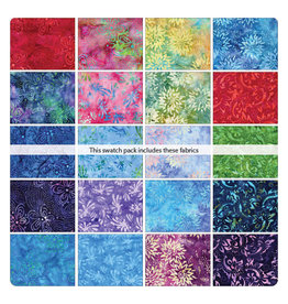 Benartex Bali Blooms - 10 x 10 Pack