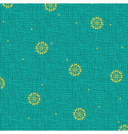 Contempo Merry Little Christmas - Christmas Star Turquoise coupon (± 44 x 110 cm)