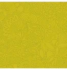 Andover Sunprint 2020 - Stitched Chartreuse coupon (± 36 x 110 cm)