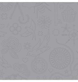 Andover Sunprint 2020 - Embroidery Cloud coupon (± 42 x 110 cm)