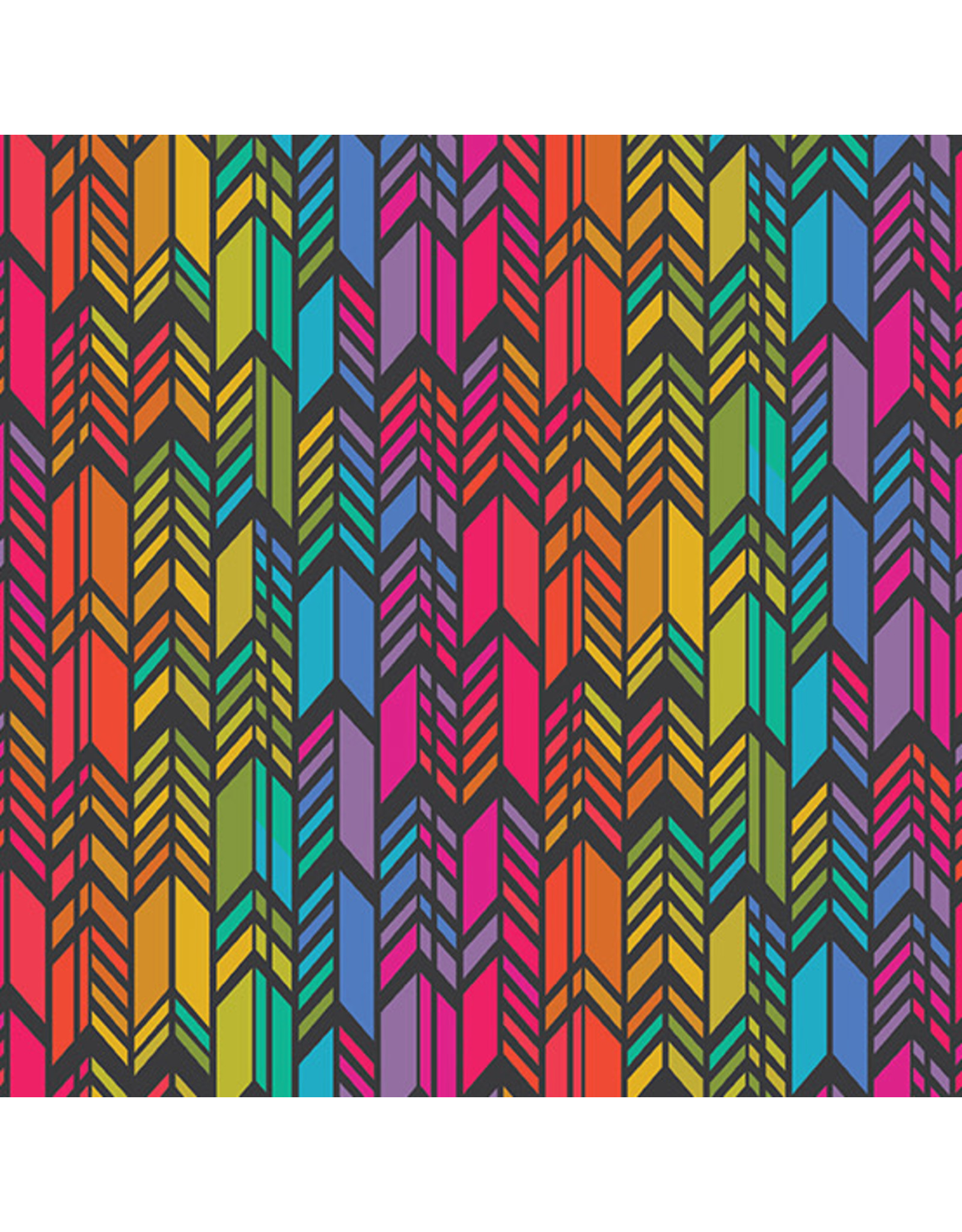 Andover Art Theory - Rainbow Feather Night