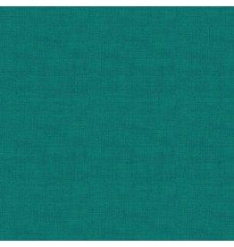 Makower UK Linen Texture - Teal coupon (± 39 x 110 cm)