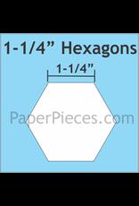 Paper Pieces 1-1/4 inch Hexagon  - 75 stuks