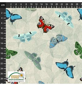 Stof Fabrics My Flutter By - Butterfly Large