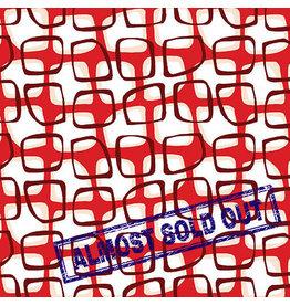 Contempo Abstract Garden - Trellis Red