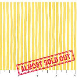 Northcott Sew Sweet - Rain Washed Stripe Yellow