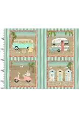 3 Wishes Fabric Beach Travel - Panel - 1 yard