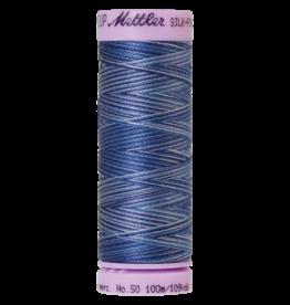 Mettler Silk Finish Cotton Multi 50 - 100 meter 9812 - Evening Blue