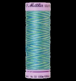 Mettler Silk Finish Cotton Multi 50 - 100 meter 9814 - Seaspray