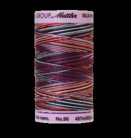 Mettler Silk Finish Cotton Multi 50 - 457 meter 9823 - Patriotic