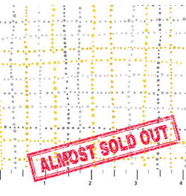 Northcott Sew Sweet - Yellow/Gray Dashed Lines
