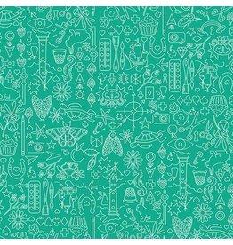 Andover Sunprint 2019 - Collection - Turtle coupon (± 40 x 110 cm)