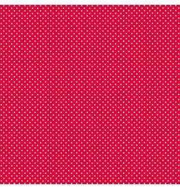 Makower UK White Spot On Bright Red