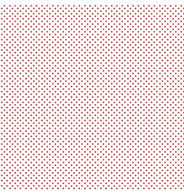 Makower UK Red Spot On White