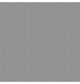 Makower UK White Spot On Steel Grey