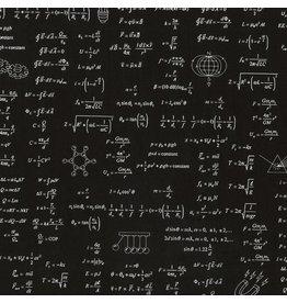 Robert Kaufman Science Math Formulas - Black