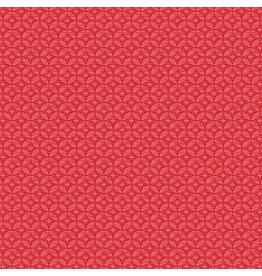 Contempo Let It Snow - Windows Red coupon (± 30 x 110 cm)