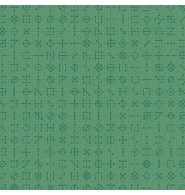Andover Declassified - Cipher Celadon coupon (± 20 x 110 cm)