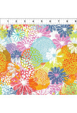 In the Beginning Doodle Blossoms - Flower Garden Multi coupon (± 20 x 110 cm)