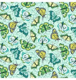 Contempo Under the Sun - Butterflies Mint coupon (± 30 x 110 cm)