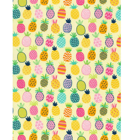 Timeless Treasures All Over Pineapple coupon (± 33 x 110 cm)