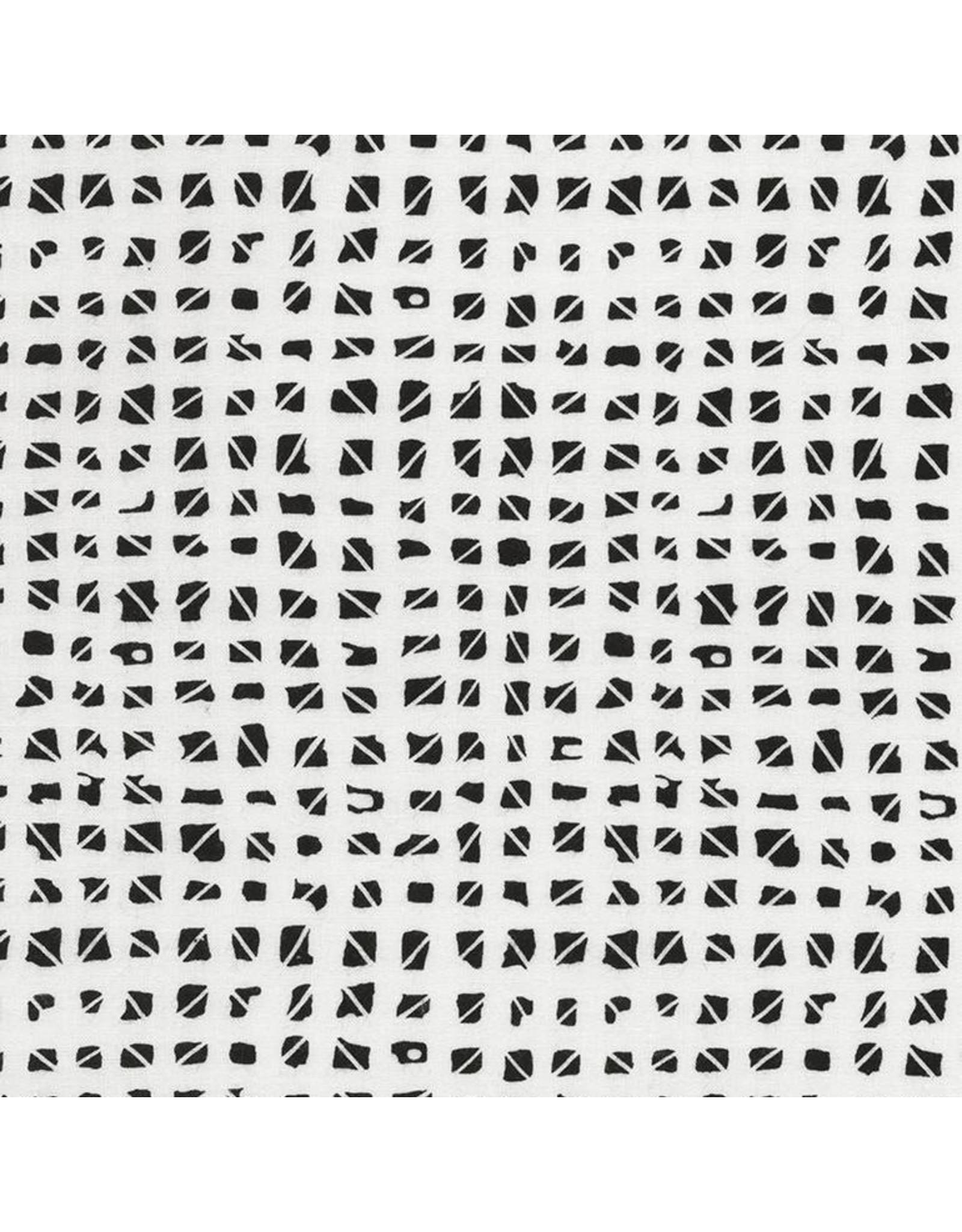 Timeless Treasures Kinfolk - Small Blocks White coupon (± 15 x 110 cm)