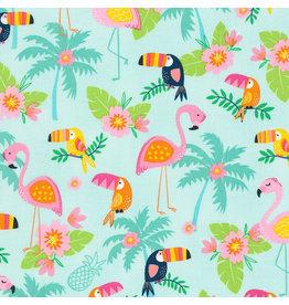 Timeless Treasures Toucans and Flamingos coupon (± 44 x 110 cm)