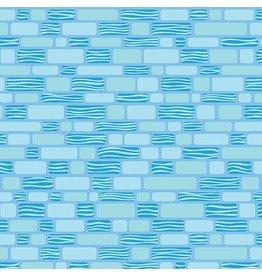 Contempo Free Motion Fantasy - Bricks Sky Blue coupon (± 38 x 110 cm)