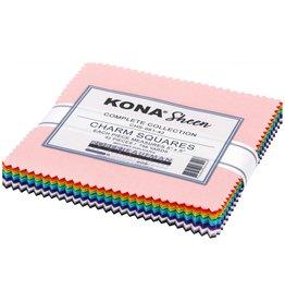 Robert Kaufman Kona Sheen - 5 x 5 pack