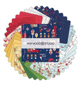 Maywood Studio Red, White & Bloom - 5 x 5 pack