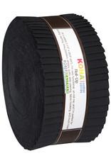 Robert Kaufman 2-1/2in Strips Roll Up - Kona Solids Black