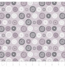 Camelot Josephine - Circles in Lilac Grey coupon (± 38 x 110 cm)