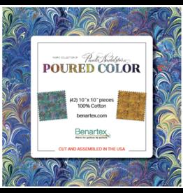 Benartex Paula Nadelstern - Poured Color - 10 x 10 pack