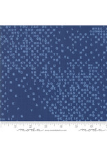 Moda Breeze - Letters Dark Blue coupon (± 29 x 110 cm)