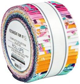 Robert Kaufman 2-1/2in Strips Roll Up - Escargot For It