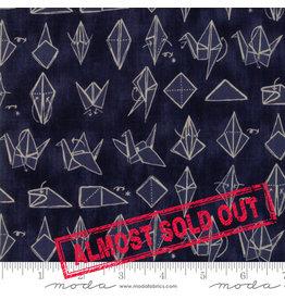 Moda Origami - Crane Dark Blue