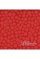 Me+You by Hoffman Fabrics Indah Batiks - 161-Coral coupon (± 40 x 110 cm)