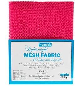 By Annie Mesh Fabric - 18 x 54 inch - Lipstick