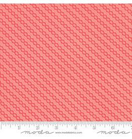 Moda Strawberry Jam - Floral Summer Stripe Pink coupon (± 63 x 110 cm)