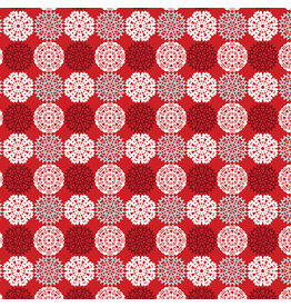 Contempo Let It Snow - Paper Cut Flakes Red