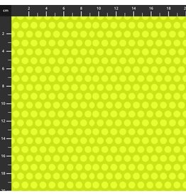 Studio E Fabrics B & W with a Touch of Bright - Polka Dots Lime