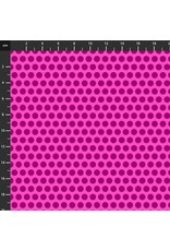 Studio E Fabrics B & W with a Touch of Bright - Polka Dots Pink
