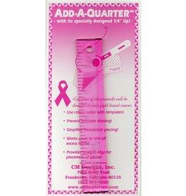 CM Designs Add A Quarter Ruler - 6 inch - Pink
